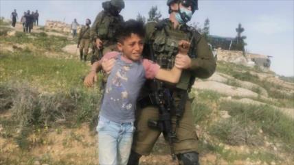 Vídeo: Fuerzas israelíes arrestan brutalmente a 5 niños palestinos