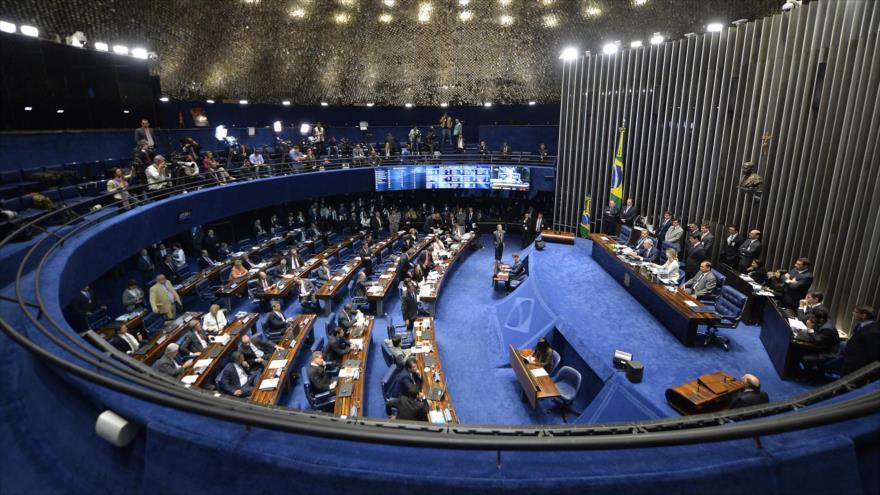 La sede del Senado de Brasil, situada en Brasilia, la capital.