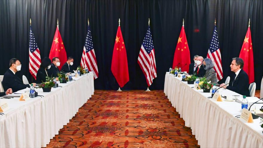 Tensiones no menguan: China y EEUU de Biden chocan en 1.ª cita	 | HISPANTV