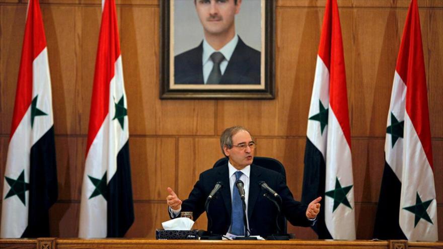 El canciller de Siria, Faisal al-Miqdad.