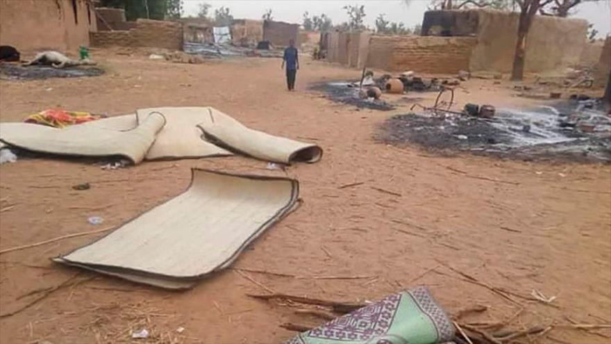Imagen del lugar donde ocurrió una masacre en la región de Tilláberi, en Níger.