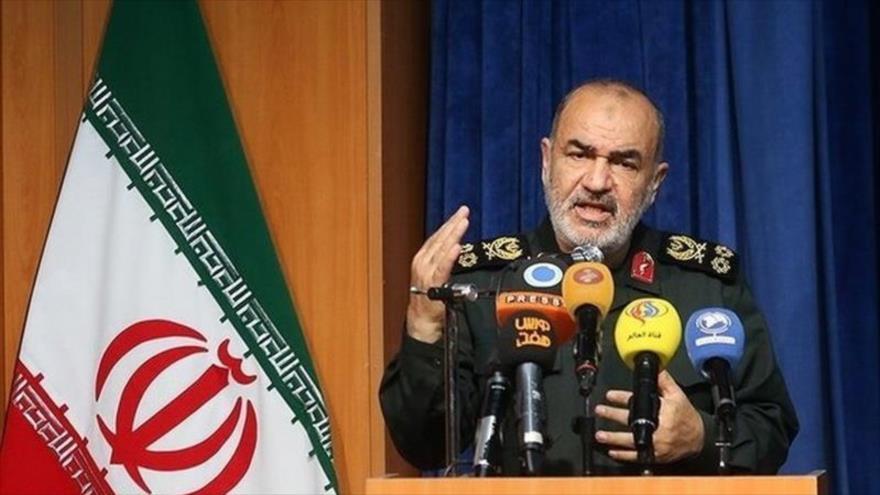 El comandante en jefe del Cuerpo de Guardianes de la Revolución Islámica (CGRI), Hosein Salami.