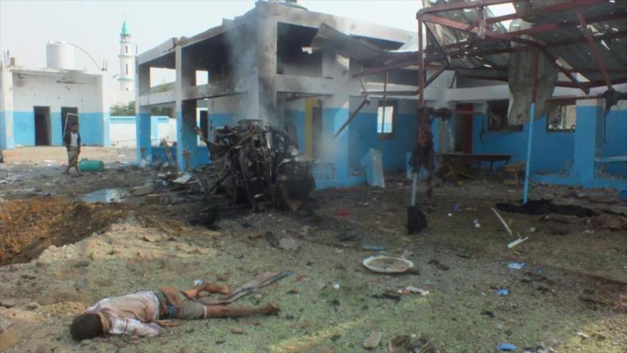 Una de las víctimas de un ataque aéreo saudí contra un hospital situado en la septentrional ciudad de Abs (Yemen), 16 de agosto de 2016. (Foto: Reuters)