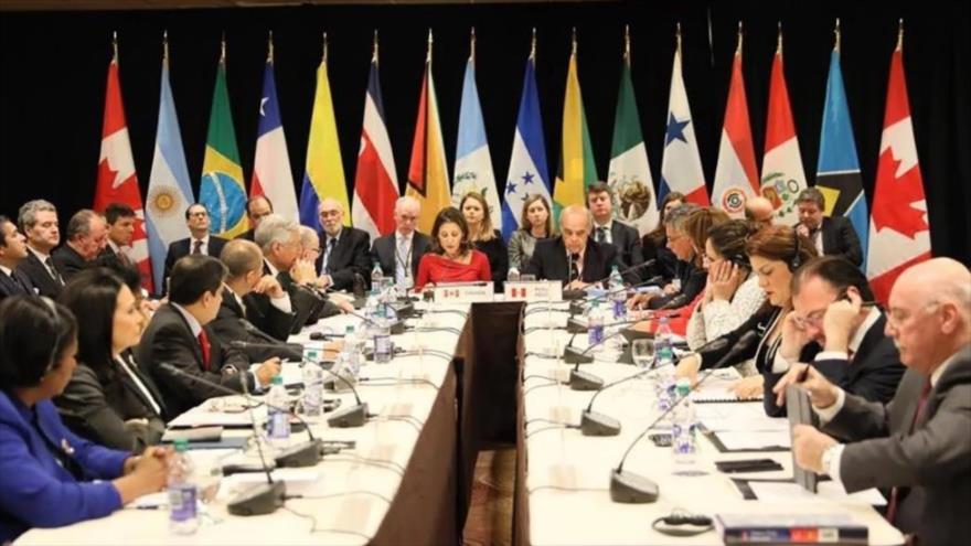 Una reunión de los miembros del Grupo de Lima.