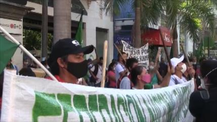 Siguen protestas en Paraguay contra el presidente Abdo Benítez