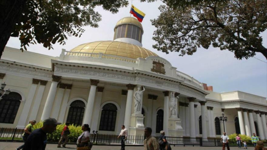 La Asamblea Nacional de Venezuela en Caracas, la capital.