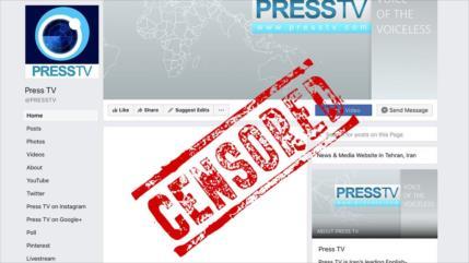 Golpe a libertad de expresión: Facebook elimina cuenta de Press TV