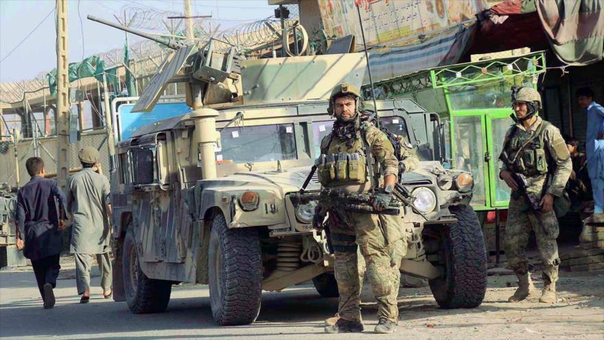 Las fuerzas de seguridad afganas en la ciudad de Kunduz.