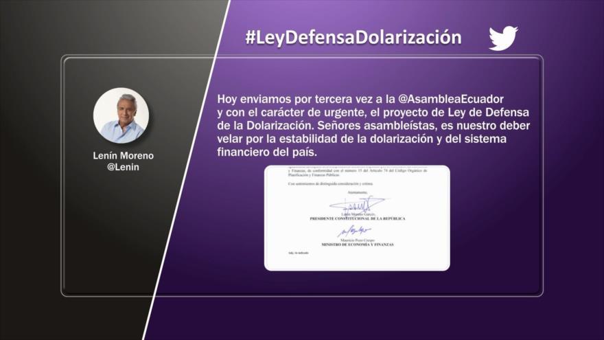Etiquetaje: Polémica Ley de Defensa de la Dolarización en Ecuador