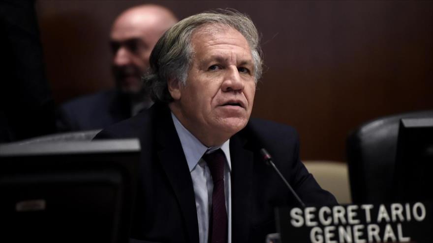 El secretario general de la Organización de los Estados Americanos (OEA), Luis Almagro, durante una reunión del organismo.
