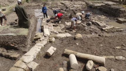 Arqueólogos descubren restosdel templo perdido del faraónPtolomeoI