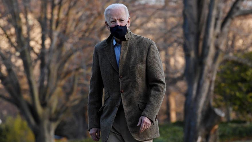 El presidente de EE.UU., Joe Biden, en el jardín de la Casa Blanca en Washington D.C., la capital, 14 de marzo de 2021. (Foto: AFP)