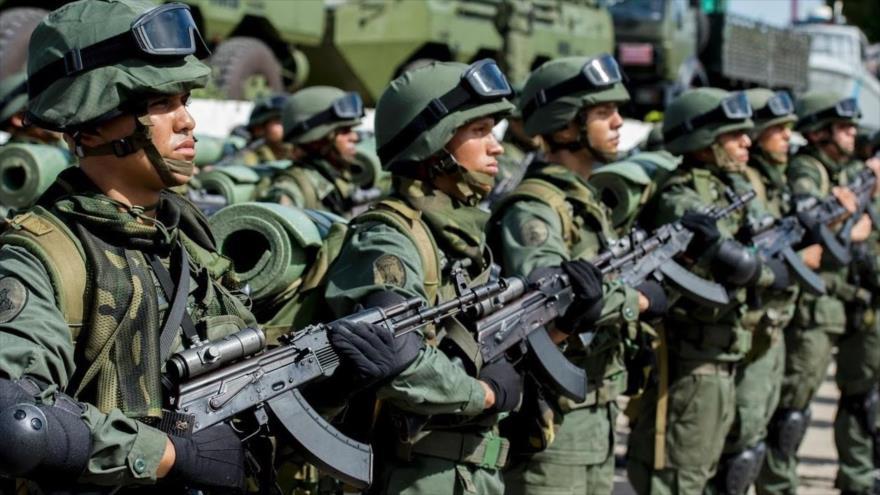 Soldados de la Fuerza Armada Nacional Bolivariana (FANB) de Venezuela.