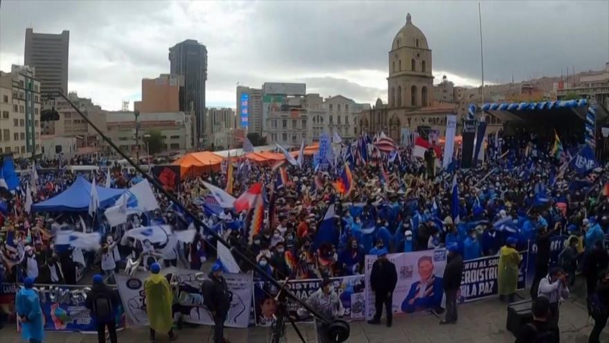 Arce y Morales llaman a unidad en Bolivia en el aniversario del MAS
