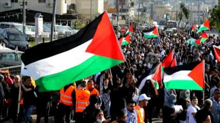 Palestinos conmemoran 45.º aniversario del Día de la Tierra