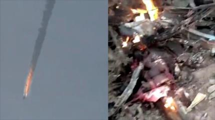 Vean cómo Boko Haram derriba un avión del Ejército nigeriano