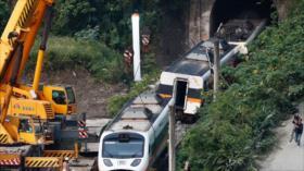 Descarrilamiento de un tren en Taiwán deja 50 muertos
