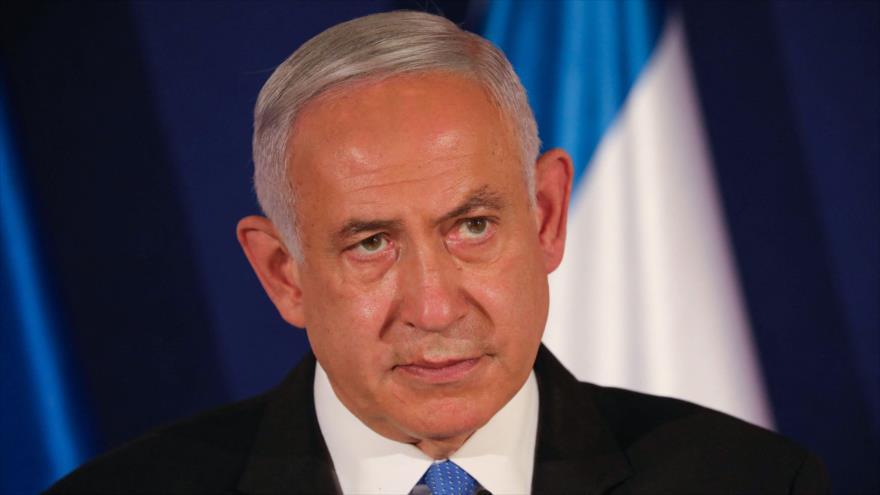 El premier israelí, Benjamín Netanyahu, durante una rueda de prensa en Jerusalén, 11 de marzo de 2021. (Foto: AFP)