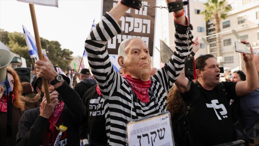 Premier israelí Netanyahu vuelve a juicio en medio de protestas | HISPANTV