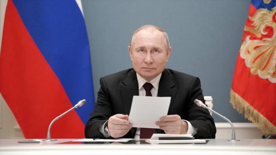 El presidente de Rusia, Vladimir Putin, en su despacho del Kremlin. (Foto: TASS)