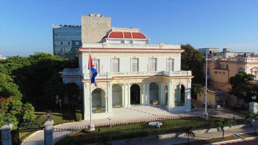 Sede de la Cancillería cubana en La Habana, la capital.