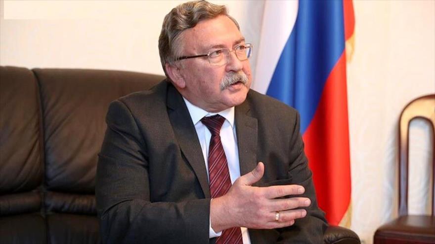 El representante permanente de Rusia ante las organizaciones internacionales radicadas en Viena (Austria), Mijaíl Uliánov.
