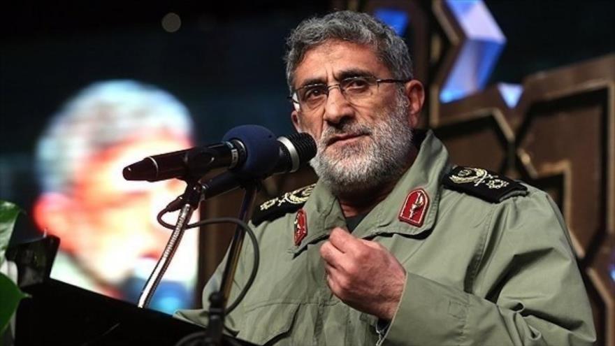 El comandante de la Fuerza Quds del Cuerpo de Guardianes de la Revolución Islámica (CGRI) de Irán, el general de brigada Ismail Qaani.