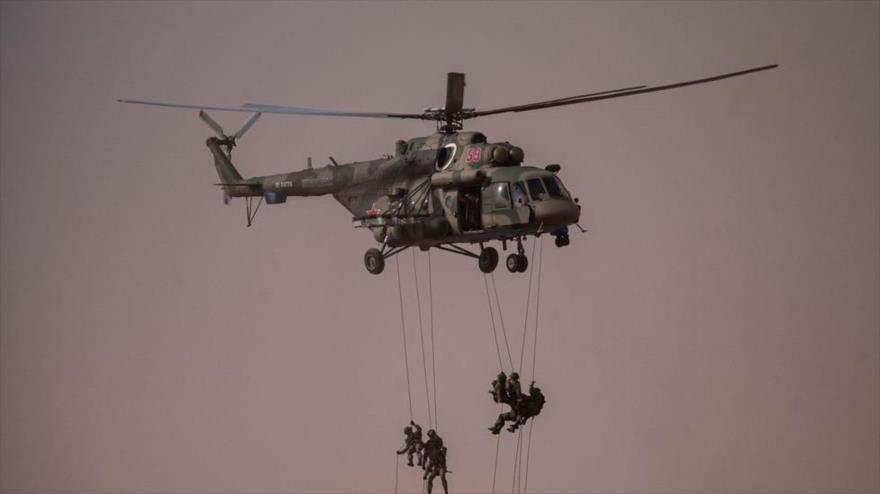 Tropas rusas en ejercicios militares en la región de Astracán, sur de Rusia, en 2020. Foto: AFP