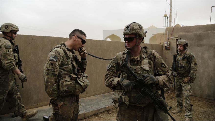Soldados estadounidenses en la ciudad de Qaim, Irak. (Foto: AP)