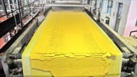 Avance récord: Irán produce 40 toneladas de torta amarilla este año