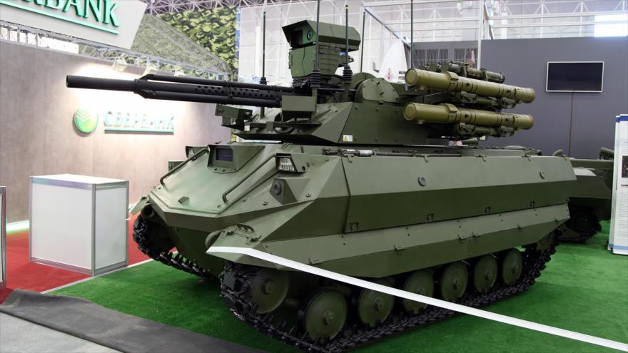 Un tanque no tripulado ruso Uran-9.