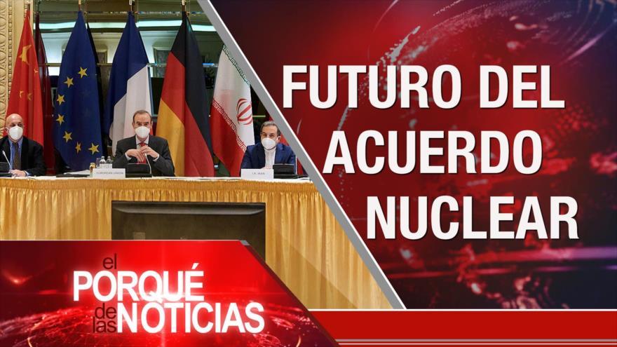 El Porqué de las Noticias: Diálogos nucleares. Crímenes israelíes. Presidenciales ecuatorianas