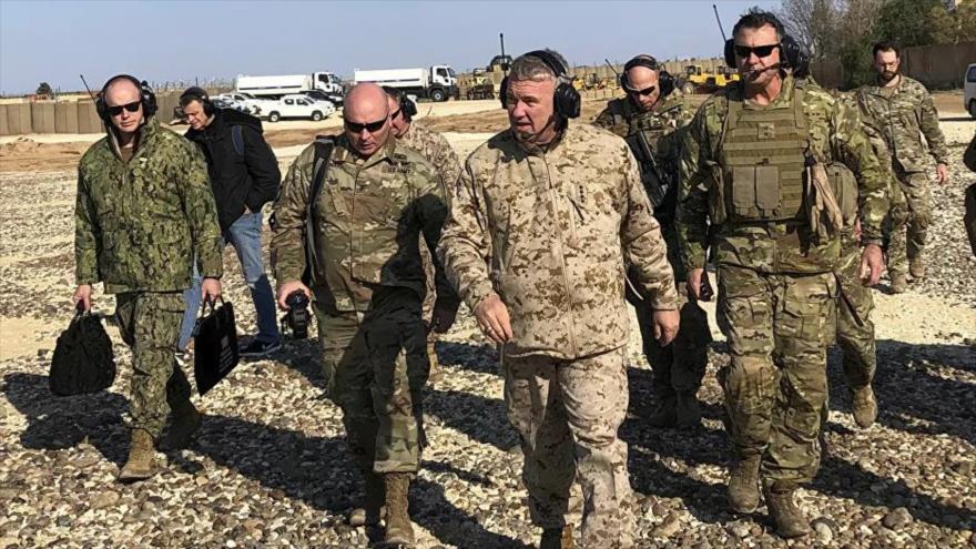 Militares estadounidenses en el este de Siria.
