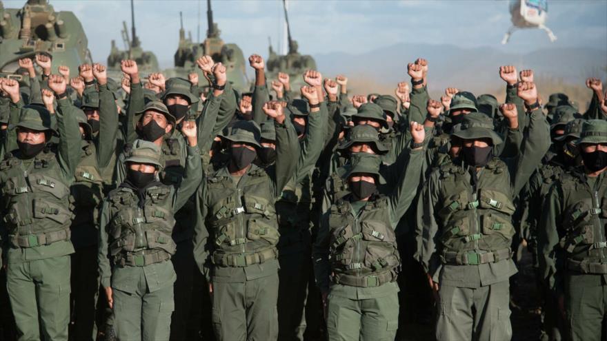 Los soldados de la Fuerza Armada Nacional Bolivariana (FANB) de Venezuela.