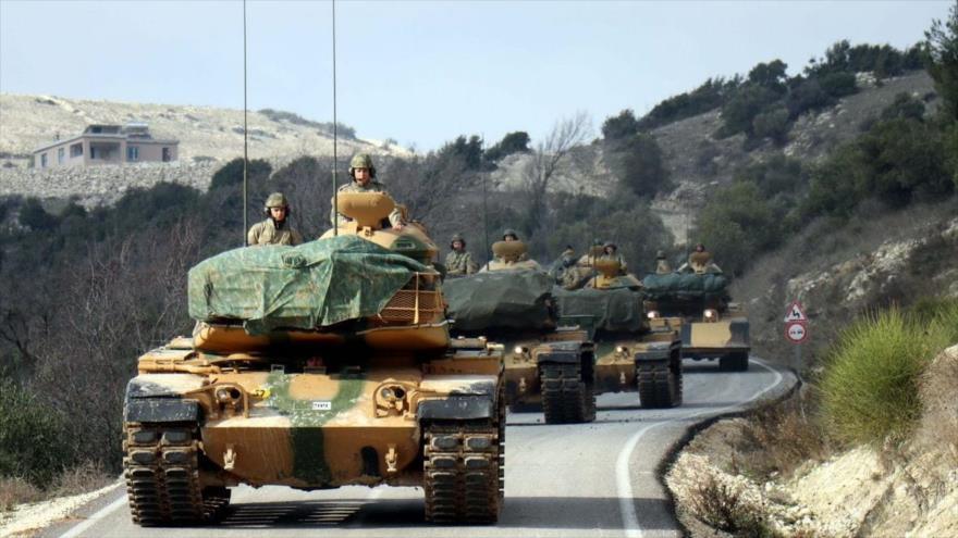 Fuerzas turcas salen rumbo a Siria, 11 de enero de 2019. (Foto: Anadolu)