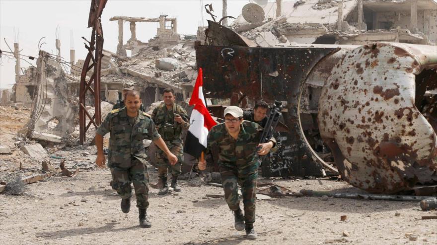 Soldados del Ejército sirio desplegados cerca de Damasco, la capital, 29 de abril de 2018. (Foto: Reuters)