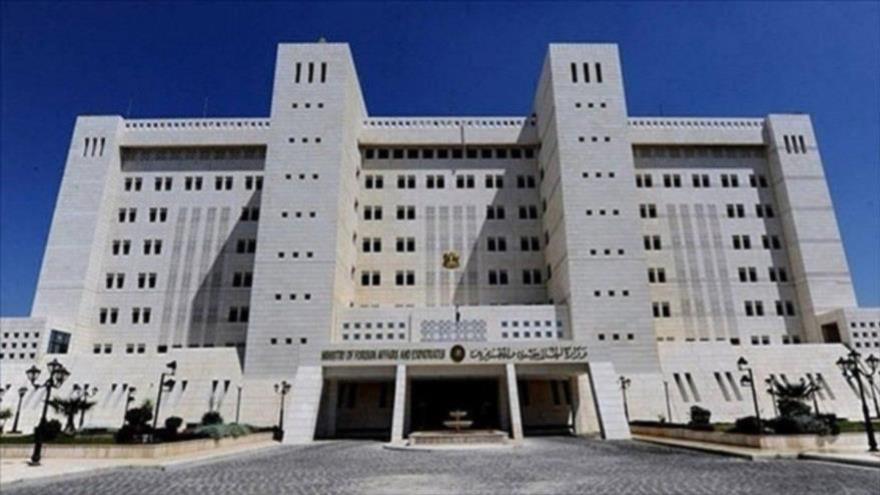 Sede del Ministerio de Asuntos Exteriores de Siria en Damasco, la capital.