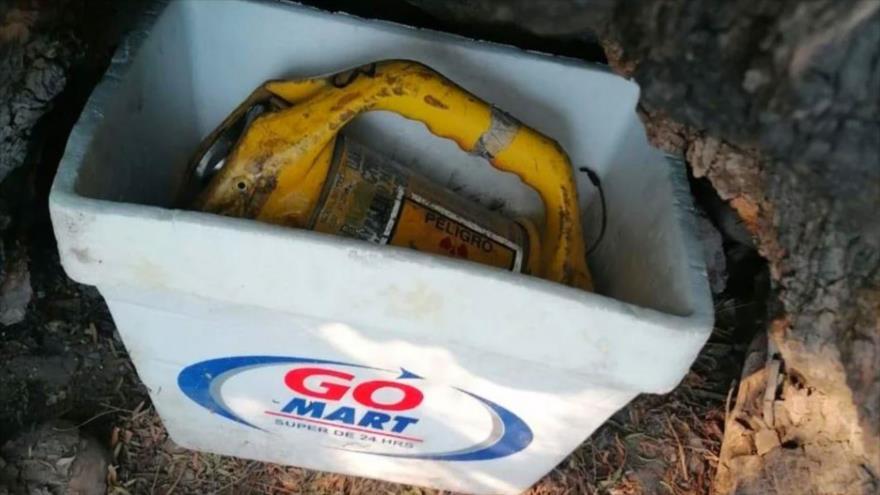La fuente radiactiva Iridio-192 robada en México.