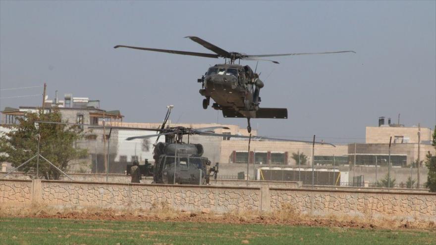 Helicópteros militares pertenecientes a los ejército estadounidense y turco en Siria, 28 de septiembre de 2019. (Foto: Anadolu)