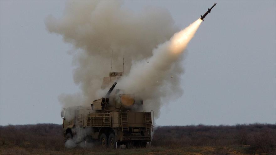 Misil disparado por un sistema de defensa aérea Pantsir-S1, de fabricación rusa.