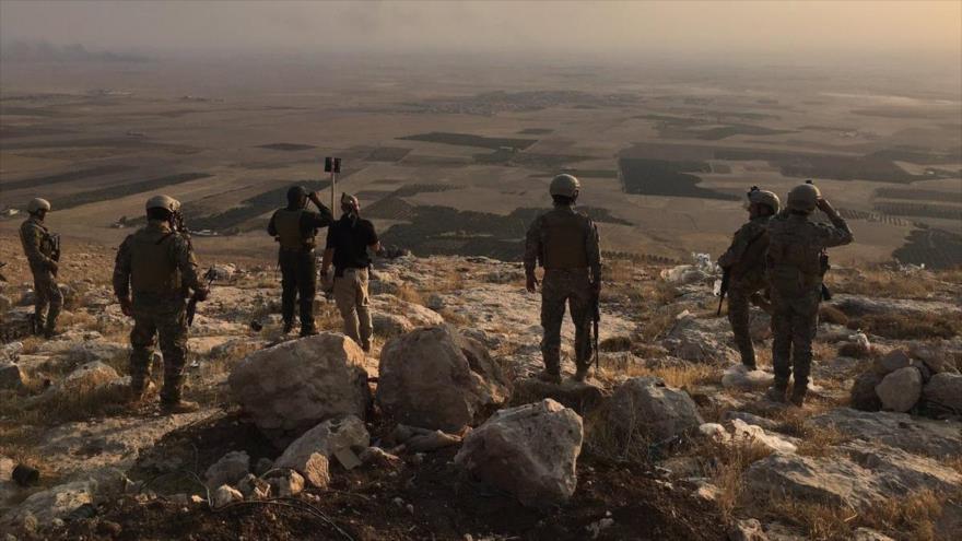 Soldados turcos en la base Bashiqa, cerca de Mosul, en el norte de Irak.