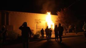 Manifestantes incendian sede de sindicato policial de Portland
