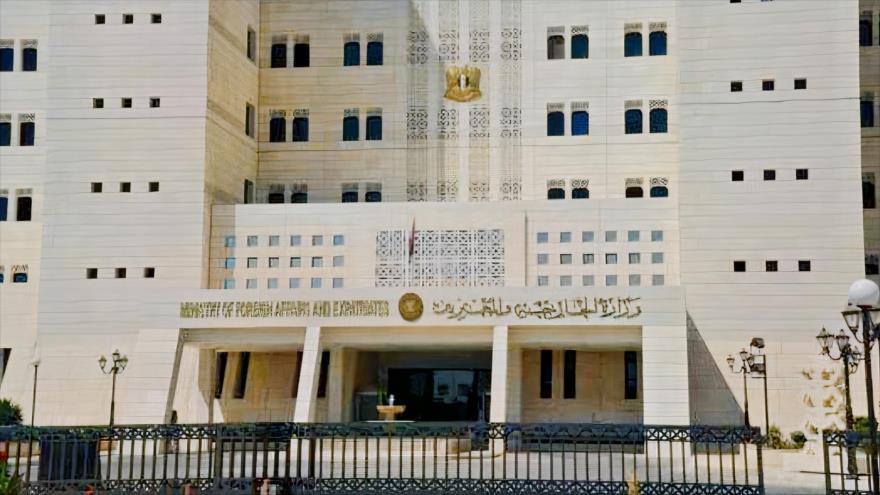 Sede de la Cancillería siria en Damasco, la capital.