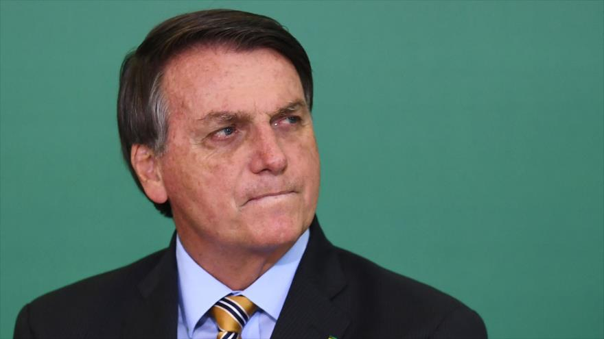 Presidente de Brasil, Jair Bolsonaro, en el Palacio de Planalto, en Brasilia (capital), 17 de noviembre de 2020. (Foto: AFP)