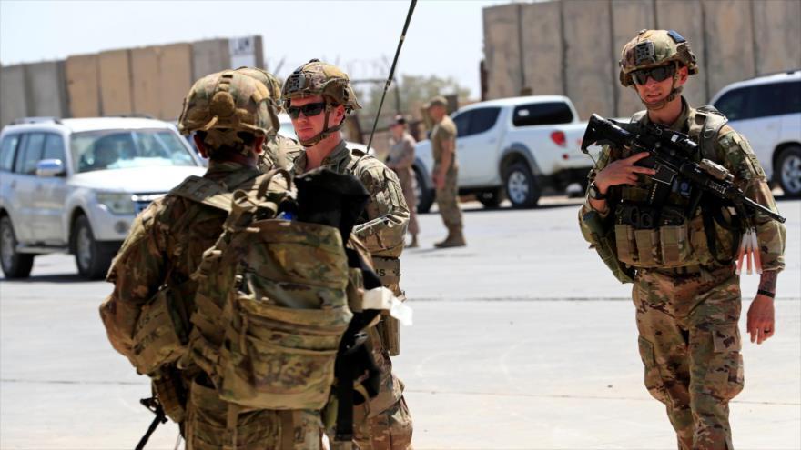 Soldados estadounidenses en la base militar Taji en la capital de Irak, Bagdad, 9 de septiembre de 2020. (Foto: Reuters)
