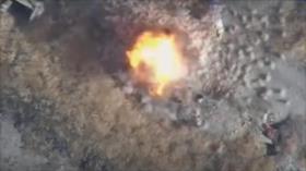 Vídeo: Rusia ataca a terroristas en Siria con decenas de drones