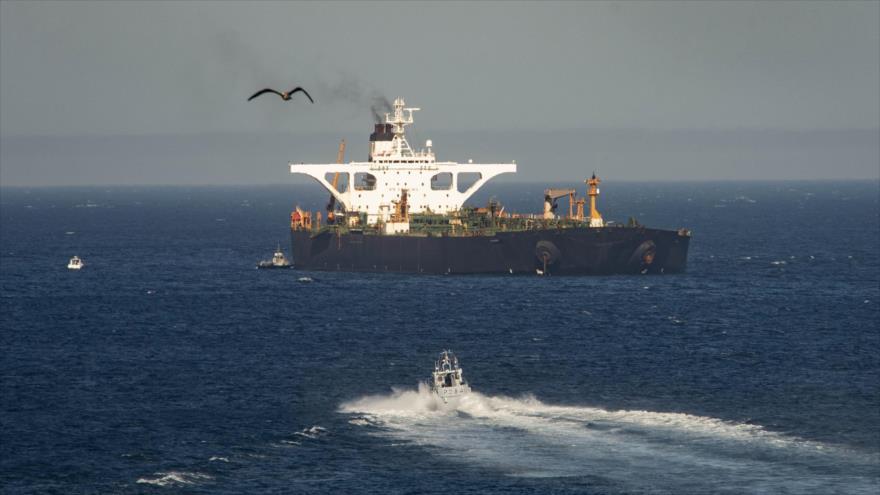 Un petrolero iraní en las aguas de Gibraltar. (Foto: AP)