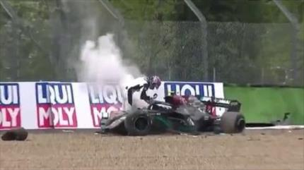 Vídeo: un fuerte choque en la carrera de Fórmula 1