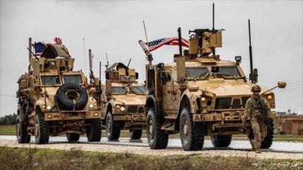 EEUU envía convoy de armas a su base ilegal en Al-Hasaka de Siria