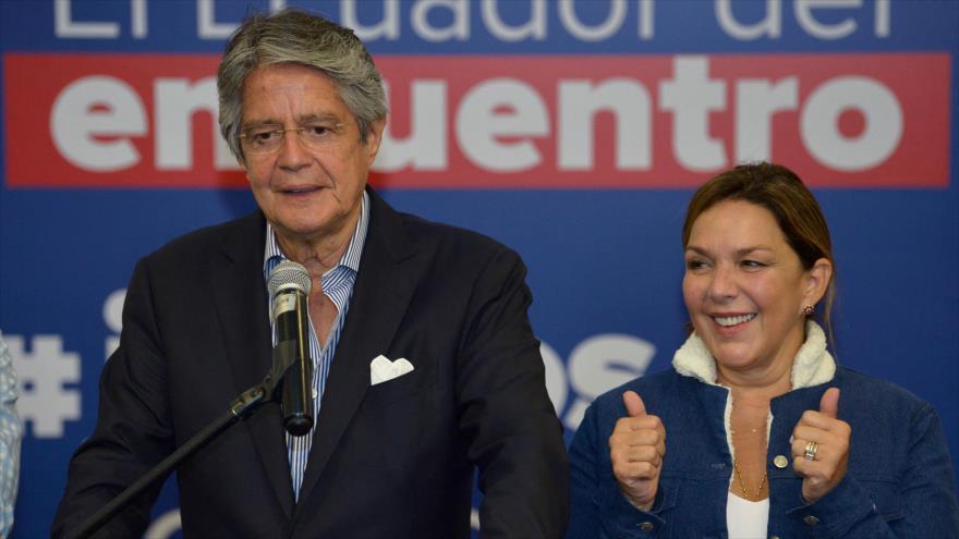 El presidente electo de Ecuador, el conservador Guillermo Lasso, 12 de abril de 2021. (Foto: AFP)